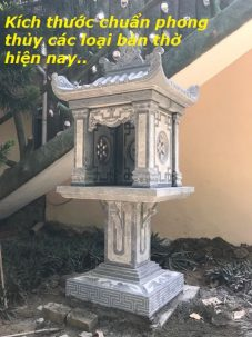 Kích thước chuẩn phong thủy các loại bàn thờ hiện nay